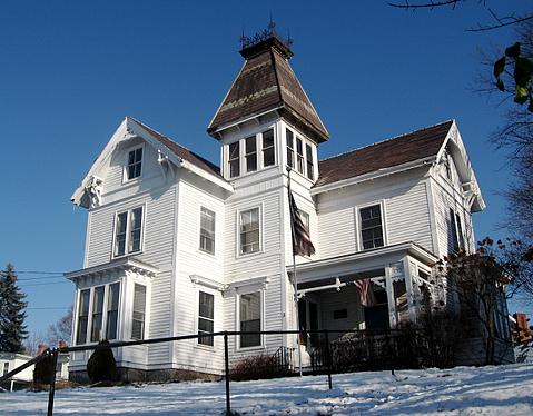 Eastlake house painted white