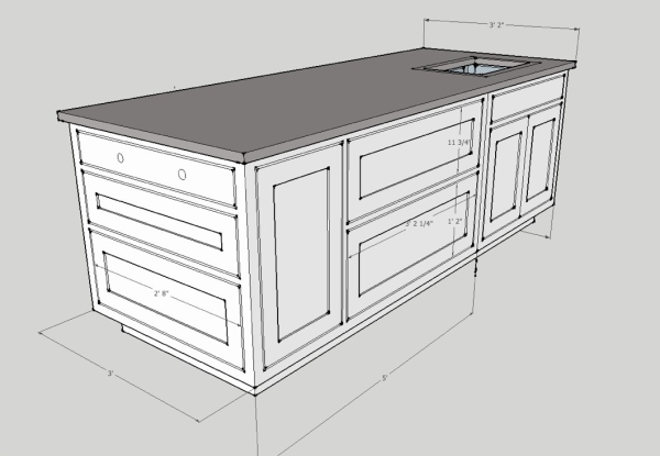 Kitchen Island With Storage Cabinets Study Planning A Renovation