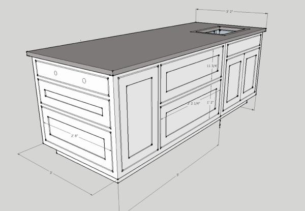 Amazing Kitchen Island Dimensions Ideas   Best Idea Home Design .