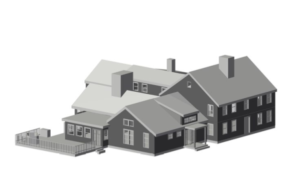 model of old house addition