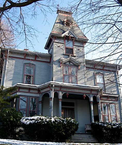 Victorian house painted exterior