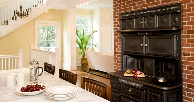 Colonial Revival Restoration Kitchen