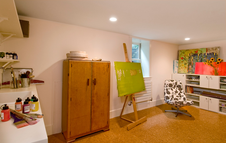 Basement renovation studio