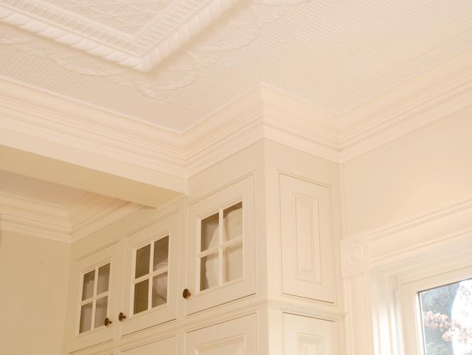 Historic Kitchen Renovation Tin Ceiling Detail