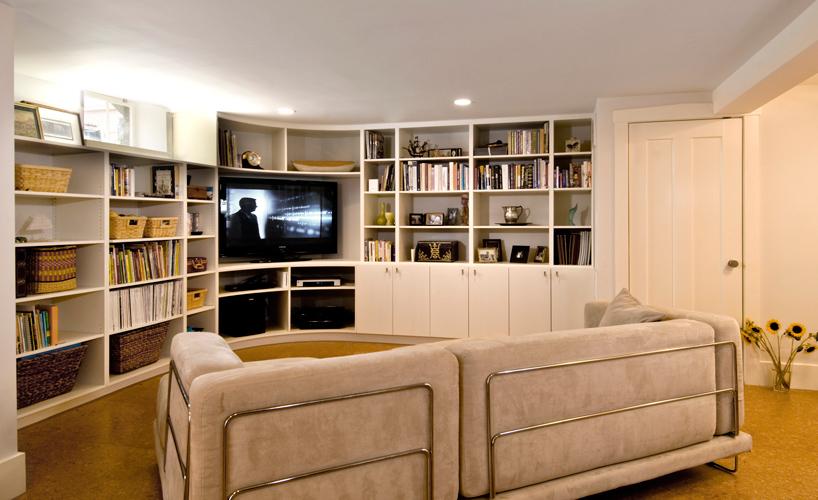 Basement renovation family room