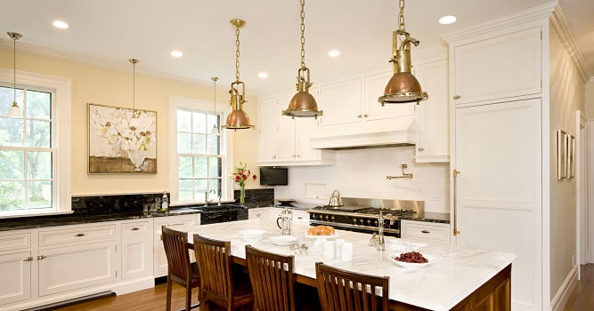 Colonial Revival Kitchen Island